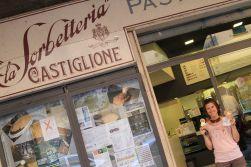 """Gelato at """"La Sorbetteria Castiglione"""" - Bologna, Italy"""