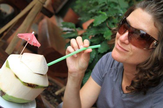 fresh coconut water - Chiang Rai, Thailand
