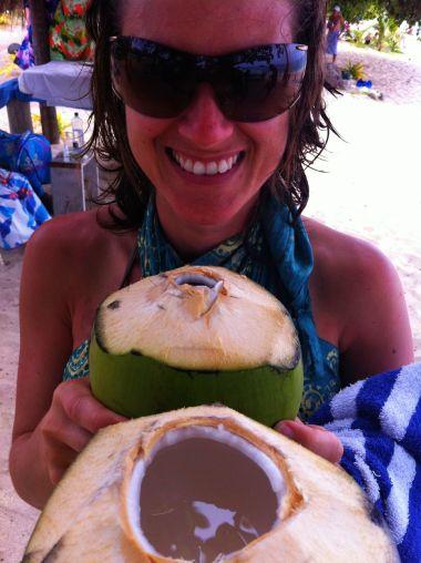 fresh coconut from Dravuni Island - Fiji