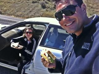 Roadside picnic on Lake Wanaka, New Zealand