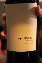 Punto Final Reserva Malbec - Mendoza, Argentina
