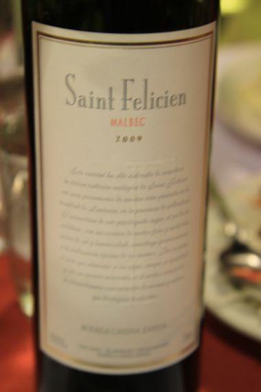 Catena Zapata Saint Felicien Malbec - Mendoza Argentina