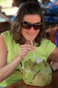fresh coconut water - Siem Reap, Cambodia