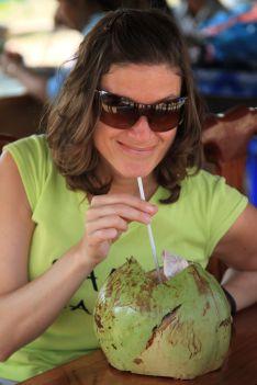 fresh coconut water - Siem Reap, Cambodia