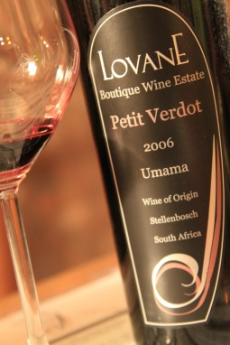 Petit Verdot from Lovane - Stellenbosch, South Africa