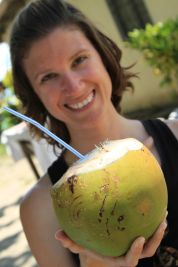 fresh coconuts from the trees in Viti Levu - Fiji