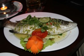 whole snapper at The Good View - Chiang Mai, Thailand