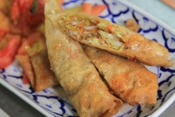 spring rolls at Chiang Mai Thai Cookery School - Chiang Mai, Thailand
