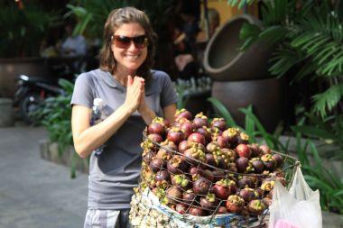 Mangosteens - the streets of Saigon, Vietnam