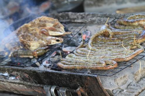 Grilled goat - Luang Prabang, Laos