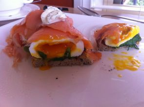 Eggs Benedict from B&B - Murrumbateman, NSW Australia